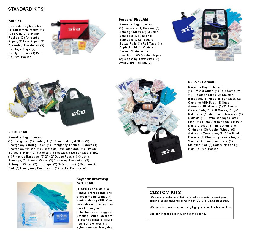 First aid kits safety training associates first aid kits and supplies publicscrutiny Image collections